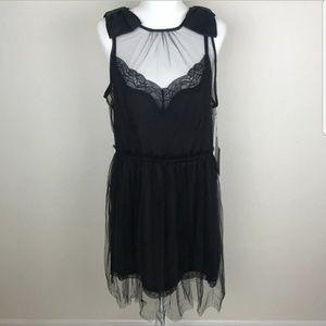Rodarte women's sleeveless mini black dress